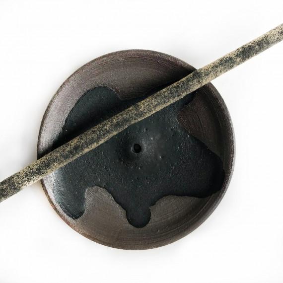 Ceramic incense holder - black Wild Harvest Botanicals - 3