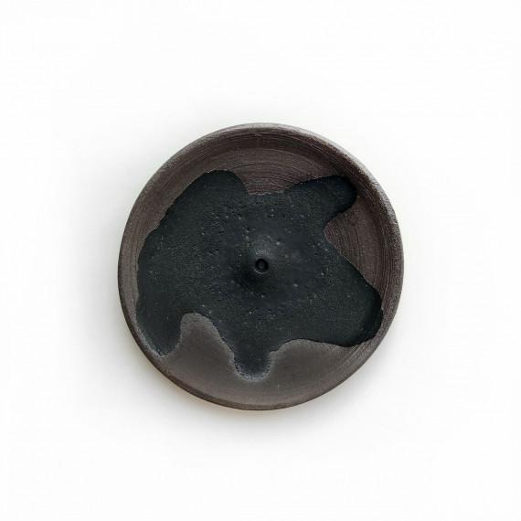 Ceramic incense holder - black Wild Harvest Botanicals - 1