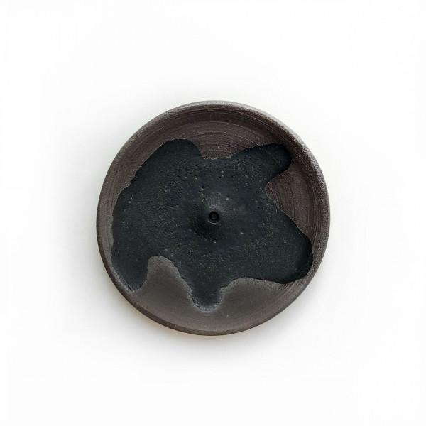 Porte-encens en céramique- noir Wild Harvest Botanicals - 1