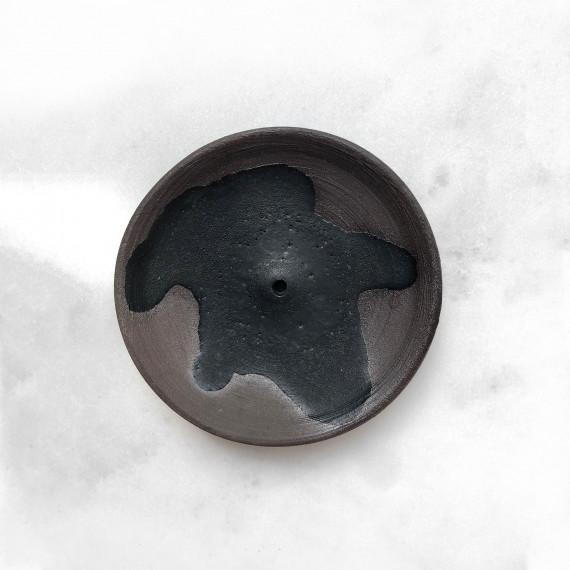 Ceramic incense holder - black Wild Harvest Botanicals - 5