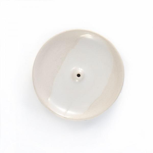 Ceramic incense holder - white Wild Harvest Botanicals - 1