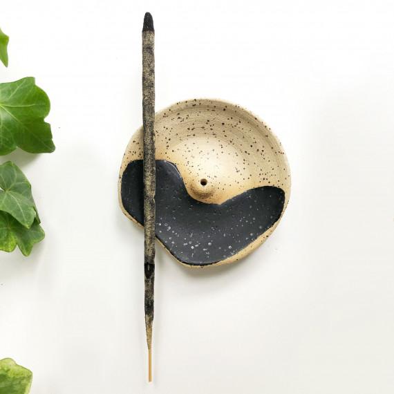 Ceramic incense holder - speckled Wild Harvest Botanicals - 1