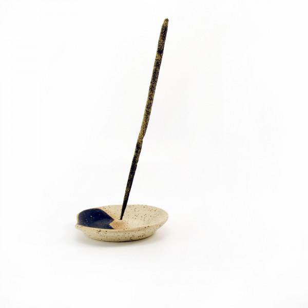 Ceramic incense holder - speckled Wild Harvest Botanicals - 3